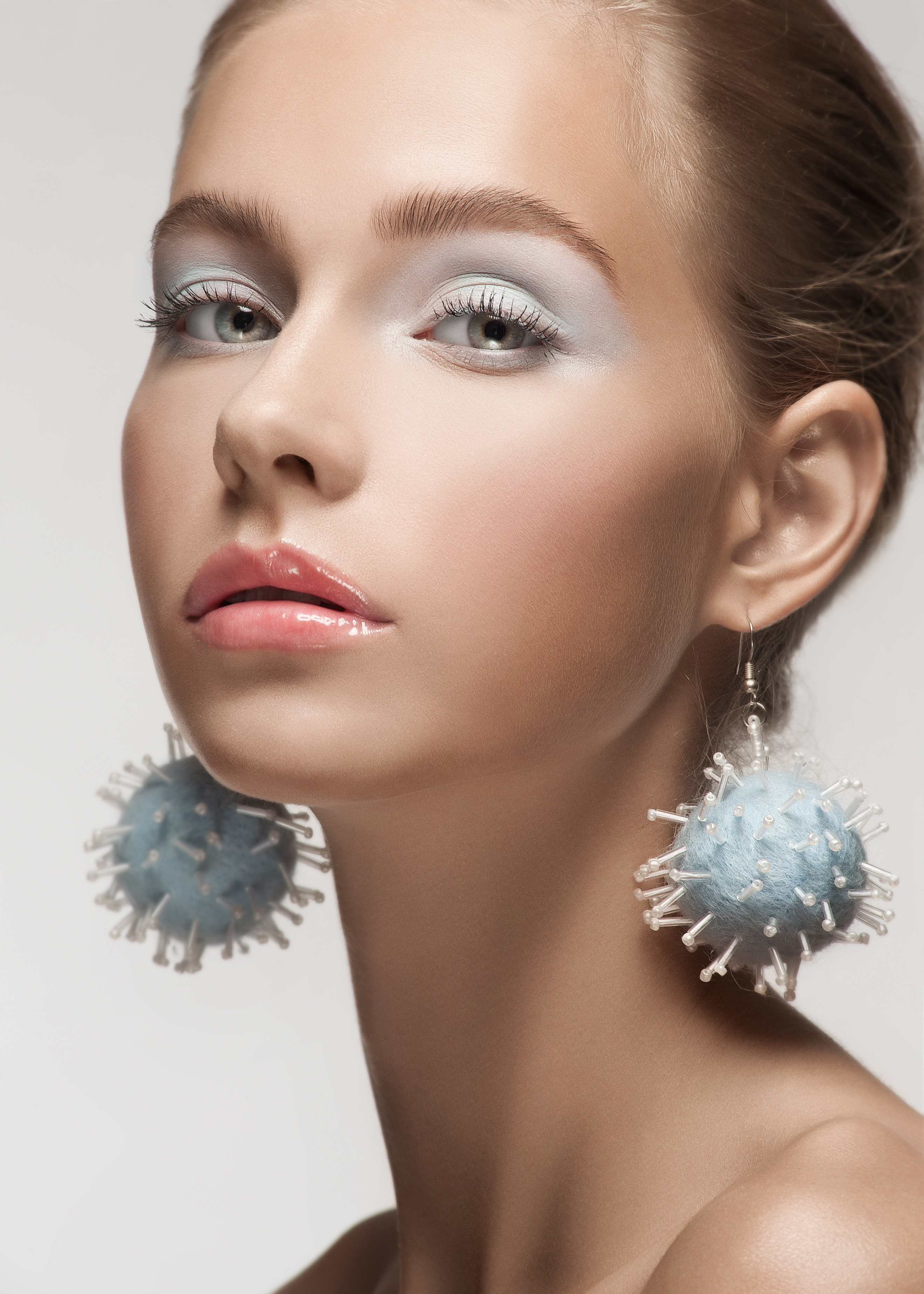 Blue eyeshadow pastel eyes BeautyandHairdressing