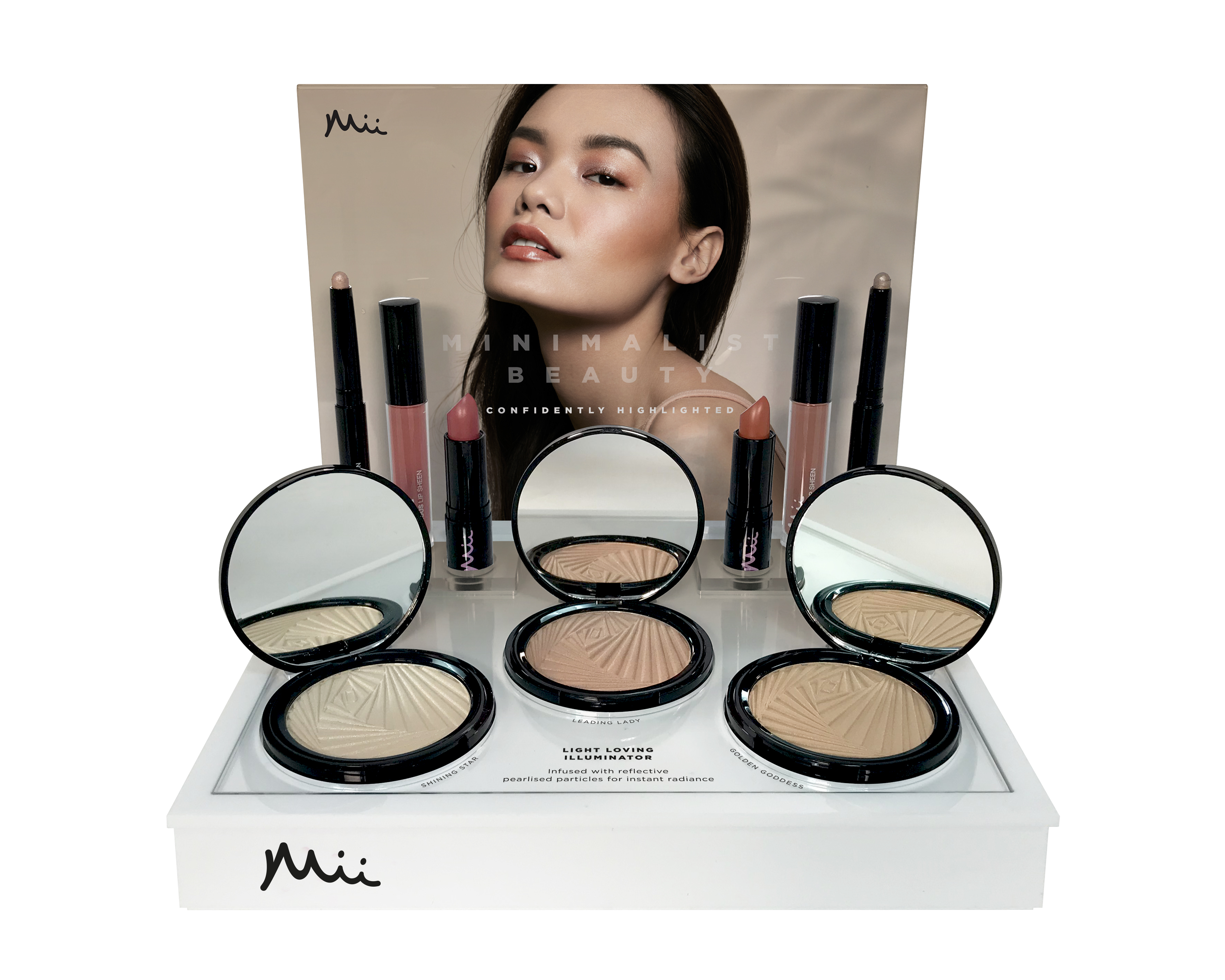 Mii Cosmetics Light Loving Illuminator Display Unit