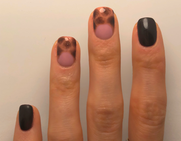 Tortoise Shell Half Moon Step by Step using GELLUX