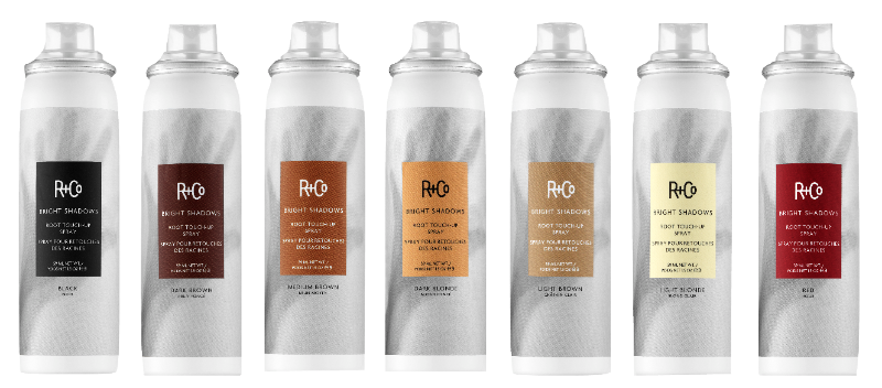 R+Co Bright Shadow hair regrowth touch-up spray