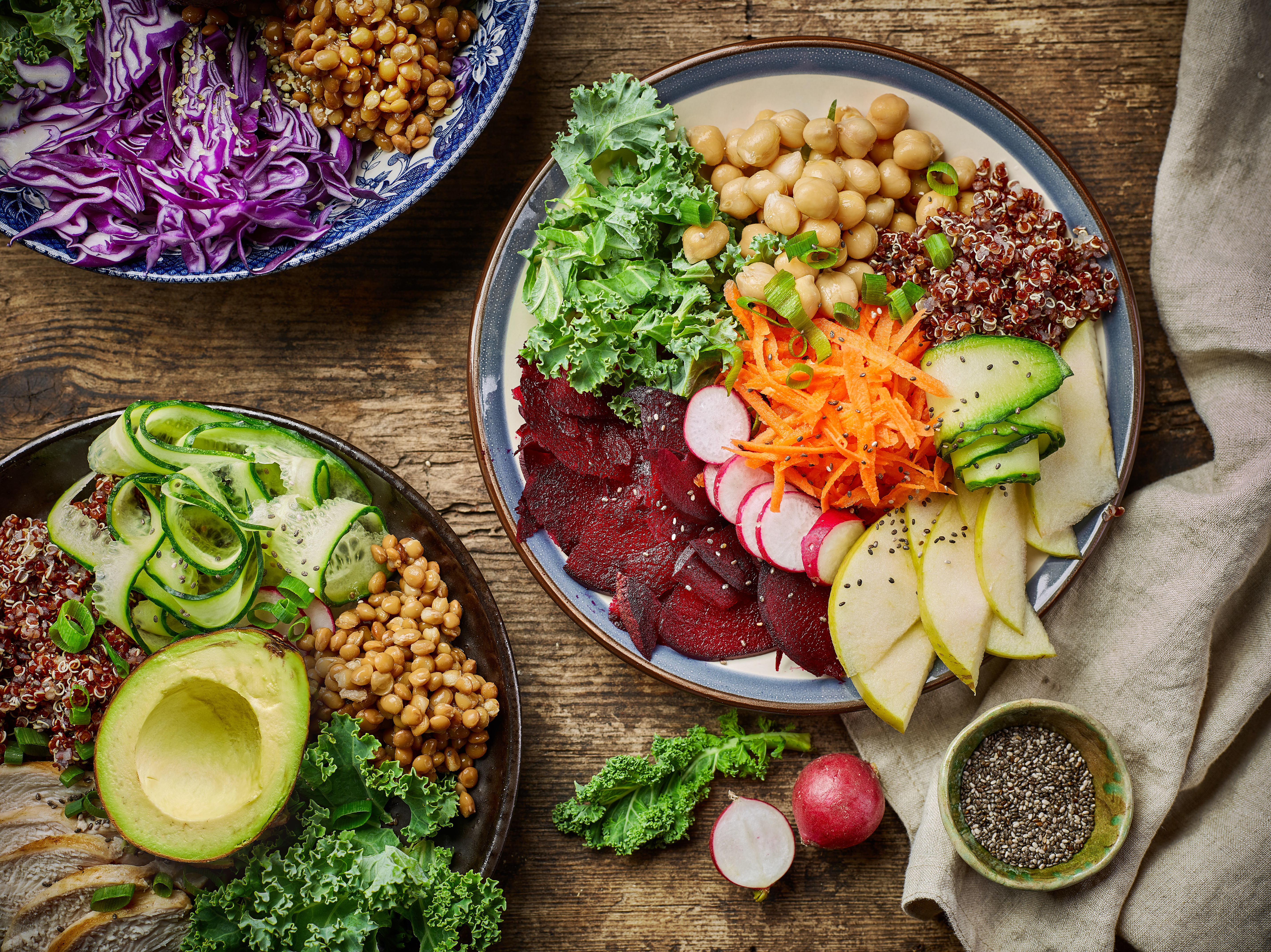 colourful salad for anti-ageing